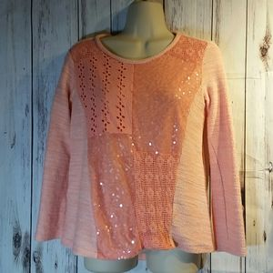 Woman's peach Style & Co sweater size PS